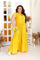 """Летнее расклешенное платье в пол """"Фаина"""" с ярусной юбкой (большие размеры), фото 3"""