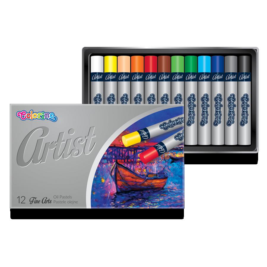 Пастель масляная 12 цветов, Colorino Artist