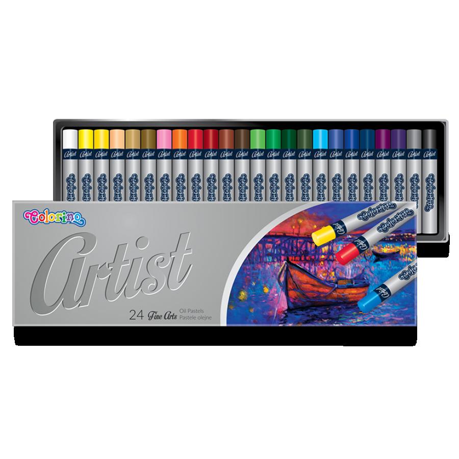 Пастель масляная 24 цвета, Colorino Artist