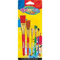 Кисти синтетические 5 штук, Colorino Jumbo