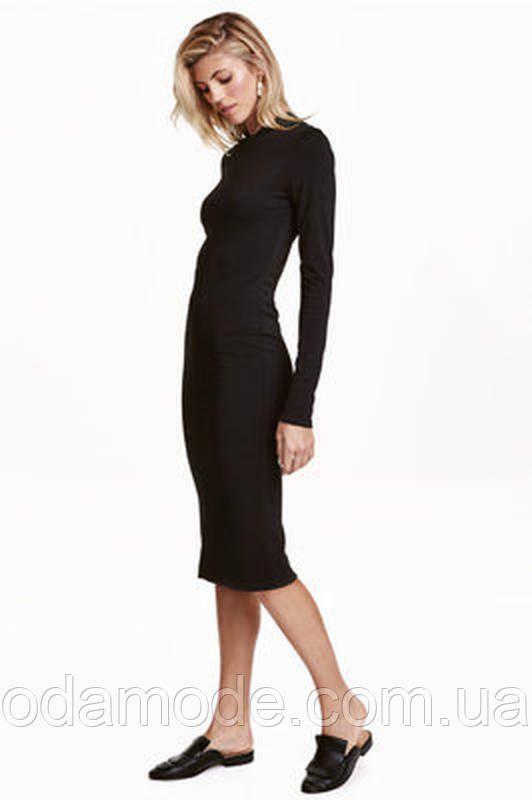 Женское платье - гольф чёрное трикотажноеH&M