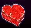 """3D светодиодная фигура """"Сердце"""" 300X300cm"""