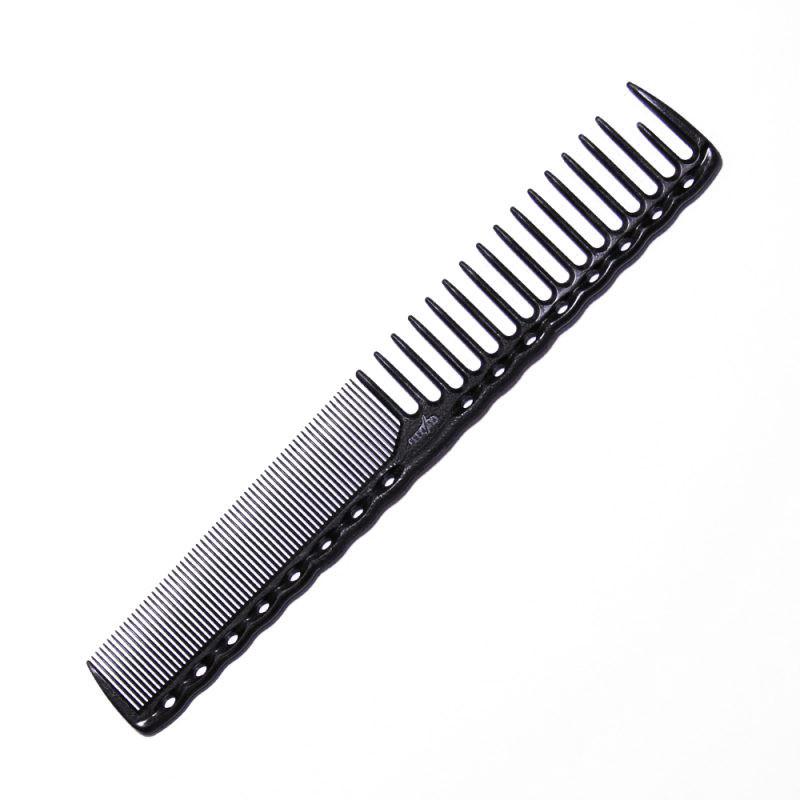 Расческа планка Y.S. Park YS-332 Carbon со скругленными зубцами L=185 мм