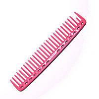Расческа планка Y.S. Park YS-452 Pink со скругленными зубцами L=200 мм