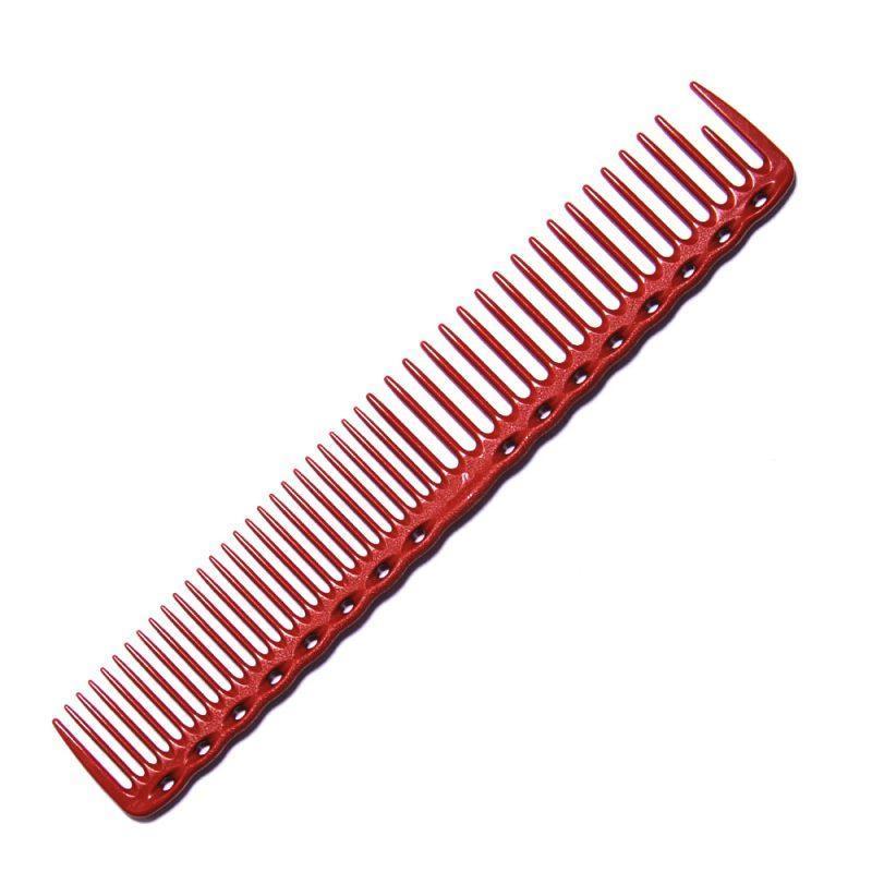 Расческа планка Y.S. Park YS-338 Red со скругленными зубцами L=185 мм