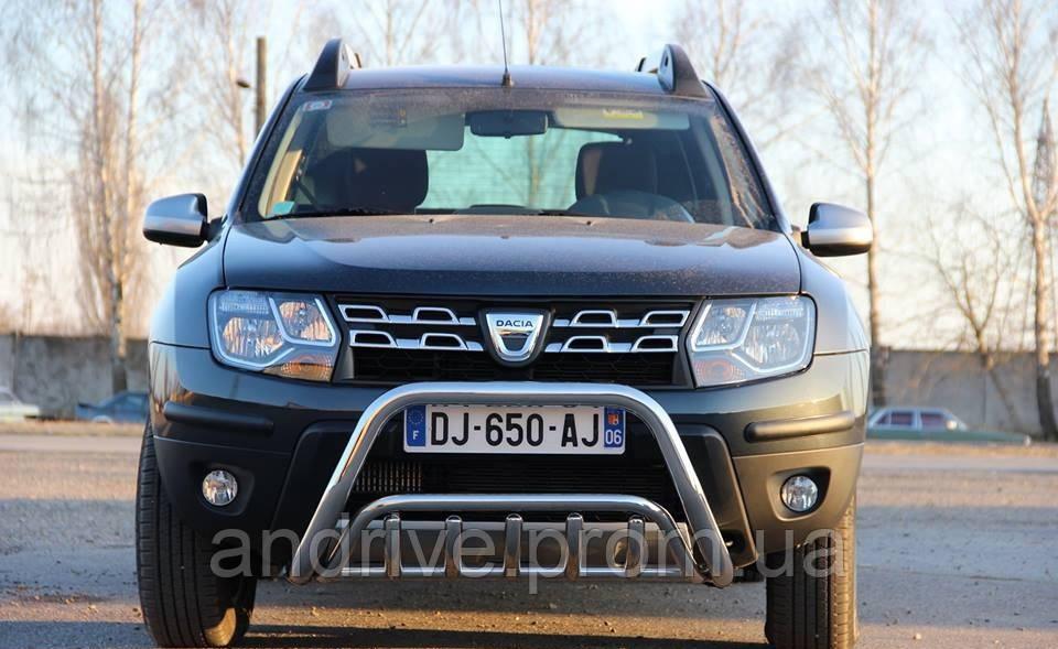 Кенгурятник двойной (защита переднего бампера) Renault Duster 2010-2018