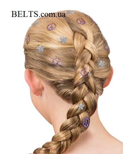 Фарба штамп на волосся 4 візерунка Hot Stamps, тату для волосся Хот Стэмпс