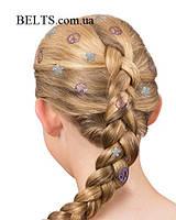 Краска штамп на волосы 4 узора Hot Stamps, тату для волос Хот Стэмпс, фото 1