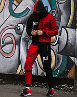 Спортивный костюм мужской Sad Smile х black-red весенний летний ЛЮКС качество