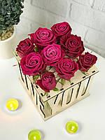Необычная ваза для цветов со стеклянными колбами, вазочка для 9 роз/цветов оригинальная Love