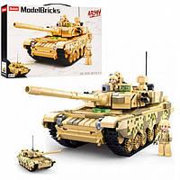 Конструктор Sluban M38-B0790 2 в 1 Армия Военный танк, 893 деталей