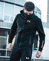 Спортивный костюм + МАСКА Under Armour x all black мужской осенний весенний /  ЛЮКС качества