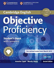 Objective Proficiency Second Edition Student's Book with answers and Downloadable Software / Учебник