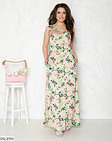 """Платье-халат женское шёлковое мод:035 (44-46, 48-50) """"DANIELA"""" недорого от прямого поставщика, фото 1"""