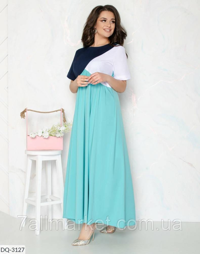 """Платье женское трехцветное мод:104 (48-50, 52-54, 56-58) """"DANIELA"""" недорого от прямого поставщика"""