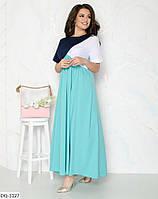 """Платье женское трехцветное мод:104 (48-50, 52-54, 56-58) """"DANIELA"""" недорого от прямого поставщика, фото 1"""