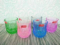 Комплект стаканов 6шт, яркие цветные | Набор стаканов