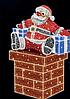 "3D светодиодная фигура ""Дед мороз"" 300X200cm"