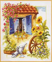 Набор для вышивания Дачное окошко Загляни в мое окно Вервако 2002/70103