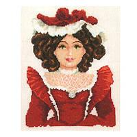 Набор для вышивания Кукла в красном Вервако 2002/75032