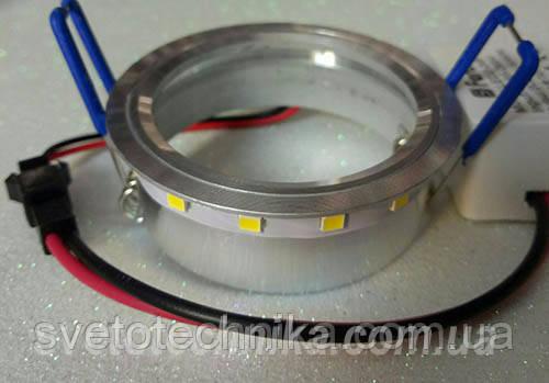 Встраиваемый  светильник 7760 MR16 с LED подсветкой прозрачный малый