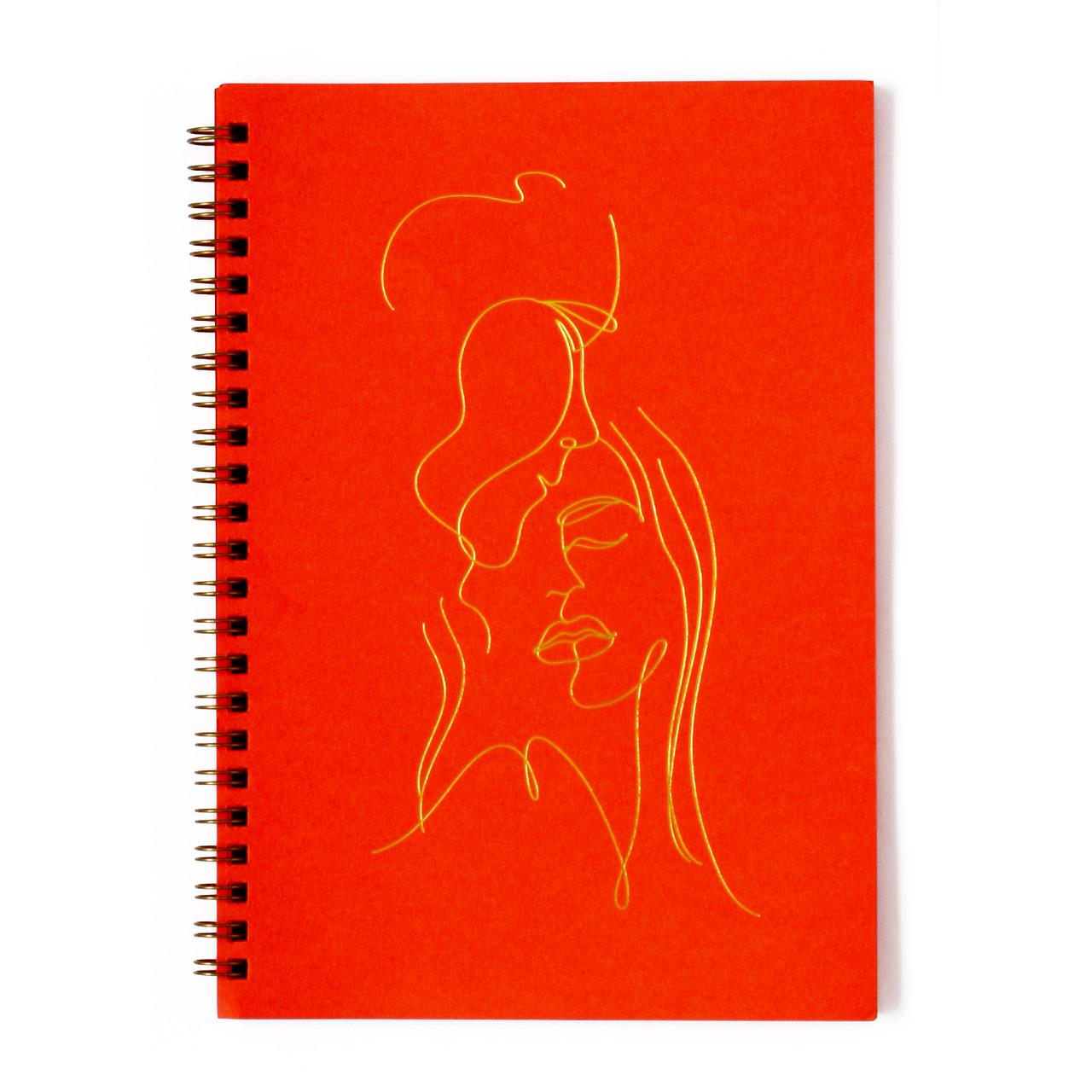 """Эко Скетчбук с красными листами А5 """"LineArt"""", блокнот на пружине"""
