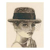 Набор для вышивания Леди в шляпе Вервако 2002/75069