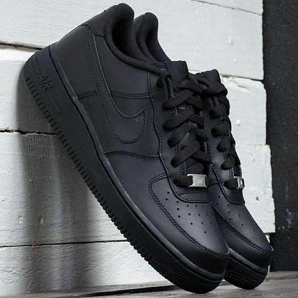 Мужские кроссовки Nike Air Force 1 Low Black, фото 2