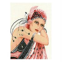 Набор для вышивания Леди в шляпе Вервако 2002/75090