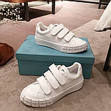 Кожаные кеды, кроссовки Прада Leather Sneakers, фото 3