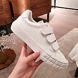 Кожаные кеды, кроссовки Прада Leather Sneakers, фото 4