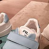 Шкіряні кеди, кросівки Прада Leather Sneakers, фото 2