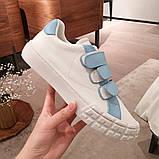 Шкіряні кеди, кросівки Прада Leather Sneakers, фото 6