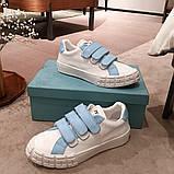 Шкіряні кеди, кросівки Прада Leather Sneakers, фото 3