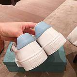 Шкіряні кеди, кросівки Прада Leather Sneakers, фото 5