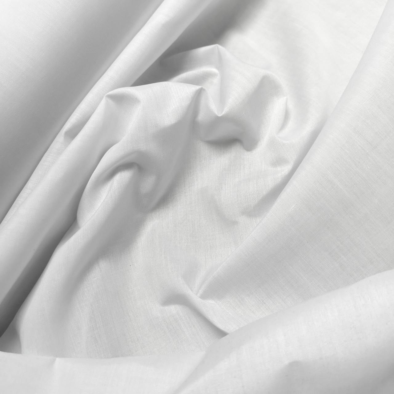 Рубашечная ткань поплин белый