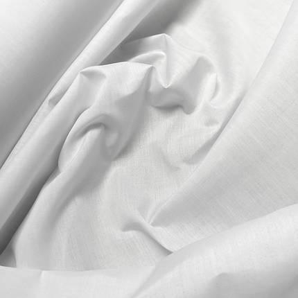 Рубашечная ткань поплин белый, фото 2