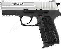 Пистолет стартовый Retay S20. Цвет - nickel., фото 1