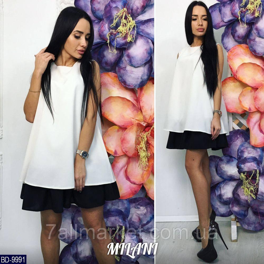 """Сукня жіноча двоколірна мод. 225 (42-46) """"MILANI"""" недорого від прямого постачальника"""