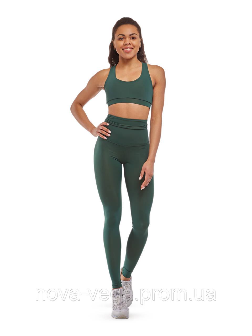Спортивные Женские Лосины Nova Vega Classic Green Emerald Высокий Пояс