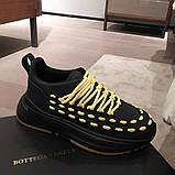 Кожаные кеды, кроссовки Боттега, фото 2