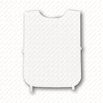 Рекламная манижка для сублимации, цвет БЕЛЫЙ (рекламный жилет, промо накидка, манижка промоутера)