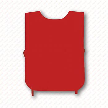Рекламная манижка цвет КРАСНЫЙ (рекламный жилет, промо накидка, манижка промоутера)
