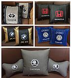 Подушки с логотипом в машину, госномером, подголовники автомобильные с вышивкой, фото 7