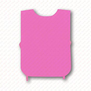 Рекламная манижка цвет РОЗОВЫЙ (рекламный жилет, промо накидка, манижка промоутера)
