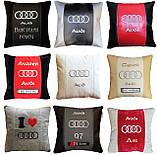 Подушки с логотипом в машину, госномером, подголовники автомобильные с вышивкой, фото 10
