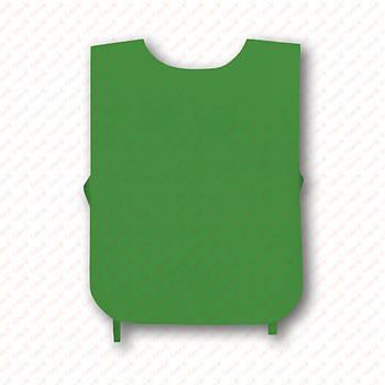 Рекламна маніжка колір ЗЕЛЕНИЙ (рекламний жилет, промо накидка, маніжка промоутера)