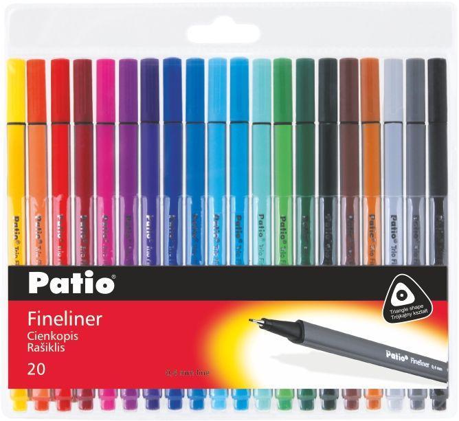 """Набор разноцветных линеров """"TRIO"""" 20 штук, Patio"""