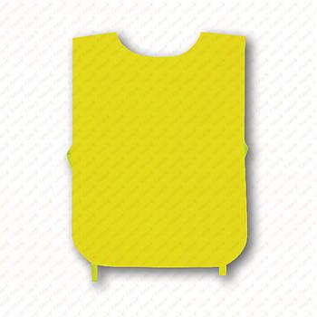 Рекламна манижка колір ЖОВТИЙ (рекламний жилет, промо накидка, манижка промоутера)