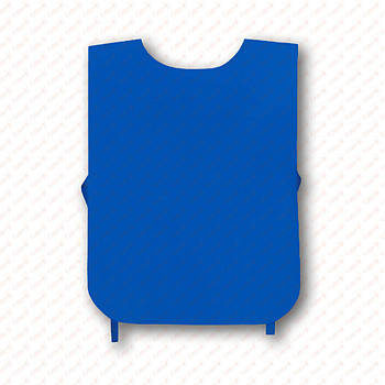 Рекламна манижка колір СИНІЙ ЕЛЕКТРИК (рекламний жилет, промо накидка, манижка промоутера)